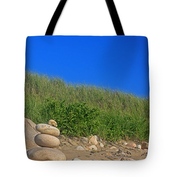 Cairn Dunes And Moon Tote Bag