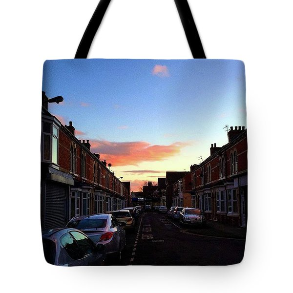 Cartoon Skies Over Middlesbrough Today Tote Bag