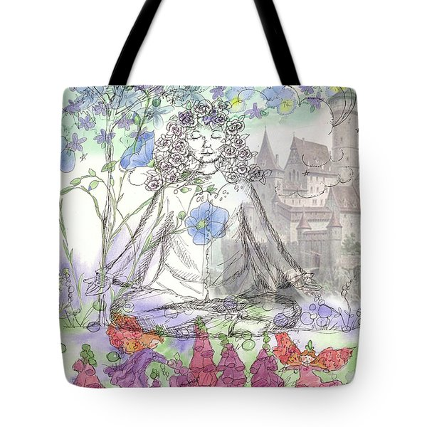 Tote Bag featuring the painting Celestial Castle by Cathie Richardson