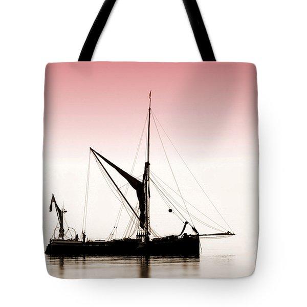 Coble Sailing  Against Pint Sky Tote Bag
