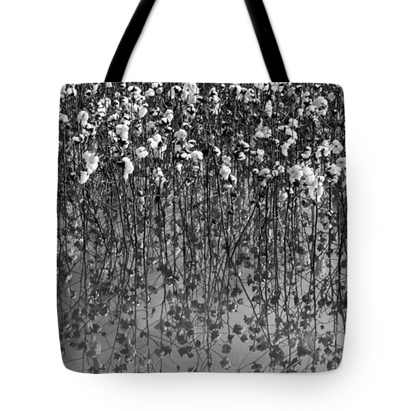 Cotton Abstract In Black And White Tote Bag