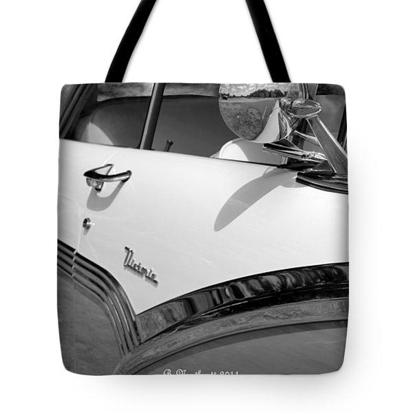 Creative Chrome - 1956 Ford Fairlane Victoria Tote Bag by Betty Northcutt
