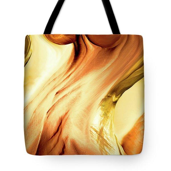 Curves Tote Bag by Linda Sannuti