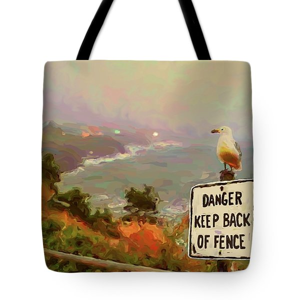 Depoe Bay Security Guard Tote Bag by Methune Hively
