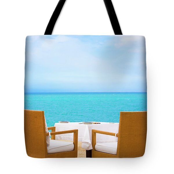 Dinner On The Beach Tote Bag by MotHaiBaPhoto Prints