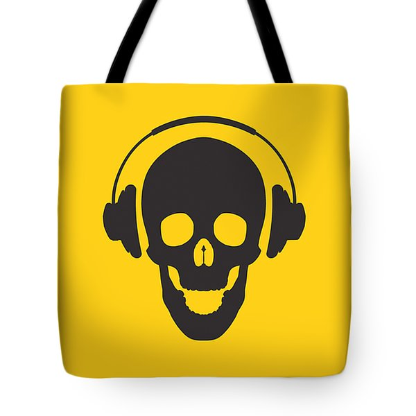 Dj Skeleton Tote Bag by Pixel Chimp