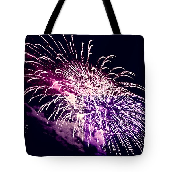 Exploding Stars Tote Bag by DigiArt Diaries by Vicky B Fuller