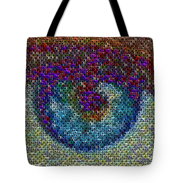 Eyeball Mosaic Tote Bag by Paul Van Scott