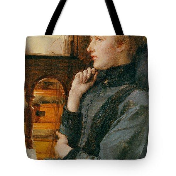 Far Away Thoughts Tote Bag by Sir Lawrence Alma-Tadema