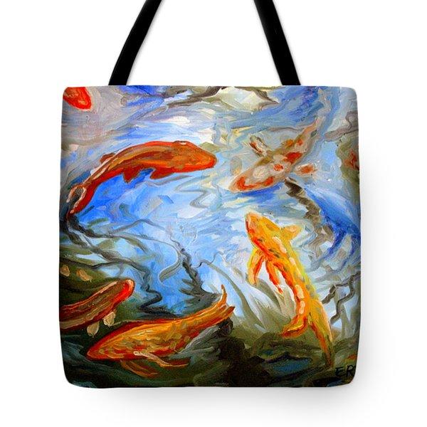 Fish Reflections Tote Bag