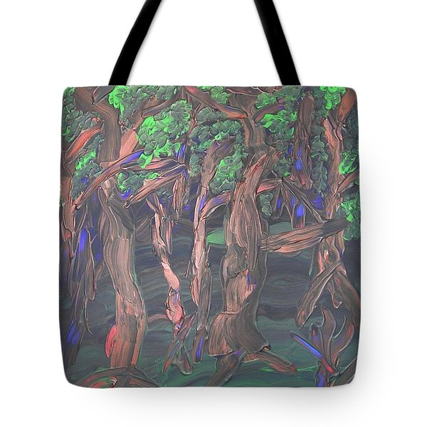 Tote Bag featuring the painting Forest by Joshua Redman