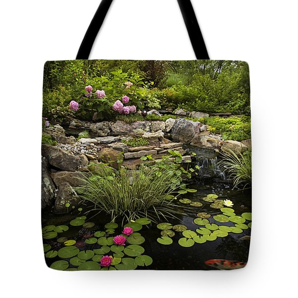 Garden Pond - D001133 Tote Bag by Daniel Dempster