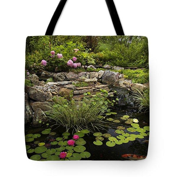 Garden Pond - D001133 Tote Bag