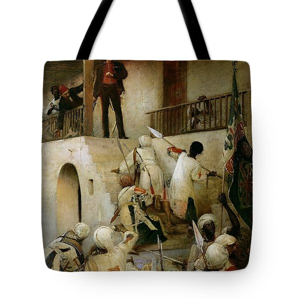 General Gordon's Last Stand Tote Bag by George William Joy