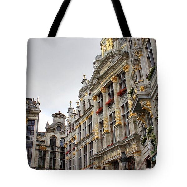 Golden Grand Place Tote Bag by Carol Groenen