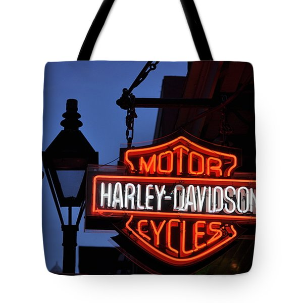 Harley Davidson New Orleans Tote Bag by Bill Cannon