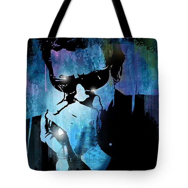 Harmonica Blues Tote Bag by Paul Sachtleben