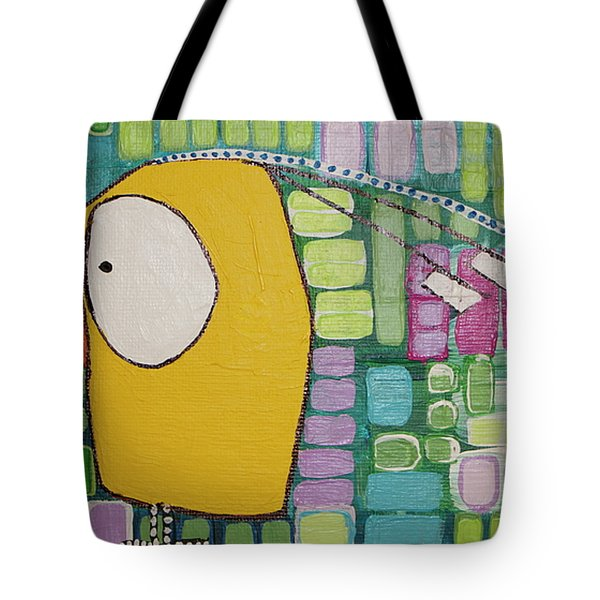 Tote Bag featuring the painting Heading West by Donna Howard