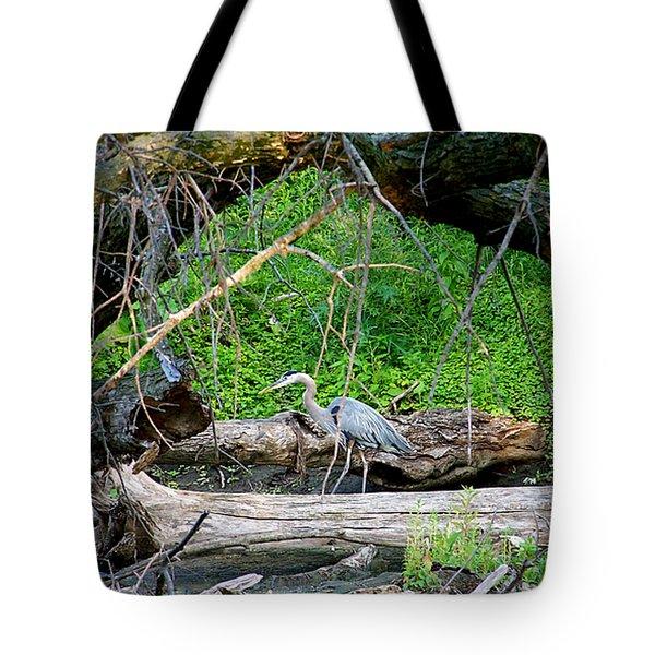 Heron Habitat Tote Bag by Sue Stefanowicz