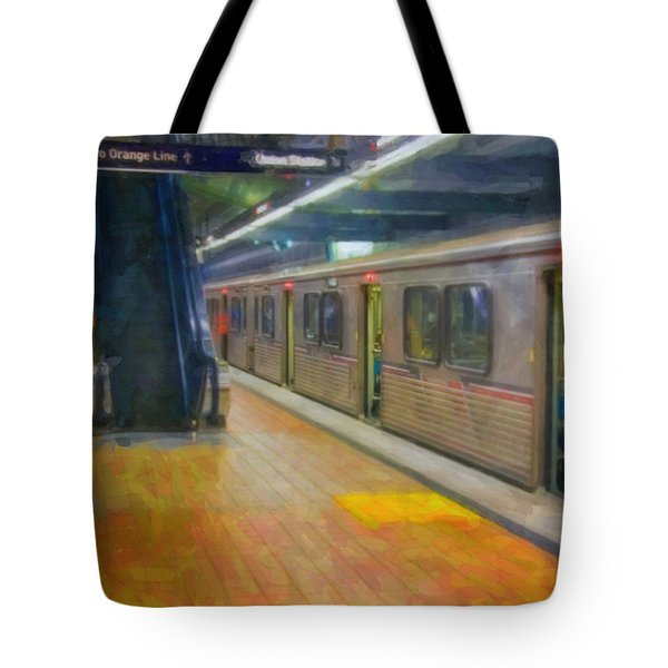 Tote Bag featuring the photograph Hollywood Subway Station by David Zanzinger