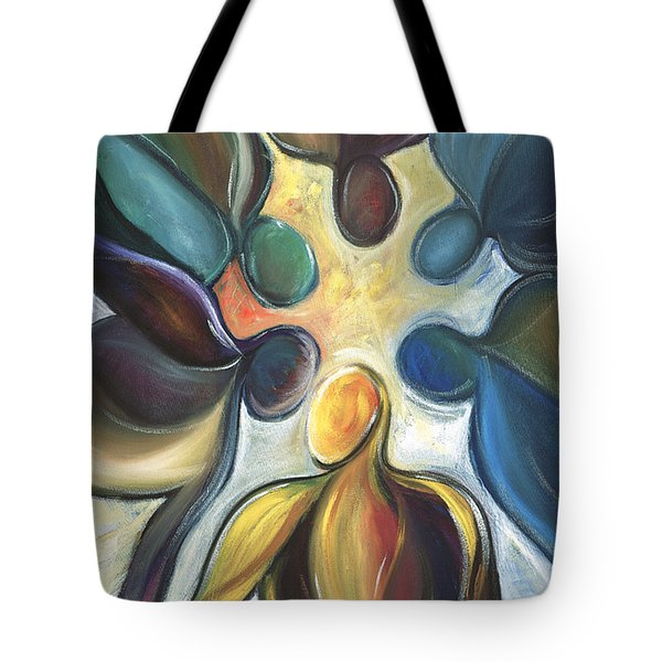 In The Huddle Tote Bag by Kristye Addison Dudley