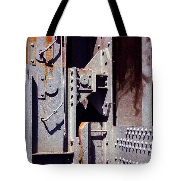 Industrial Background Tote Bag by Carlos Caetano
