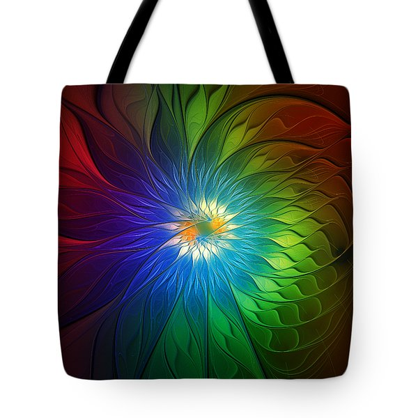 Into Light Tote Bag by Amanda Moore