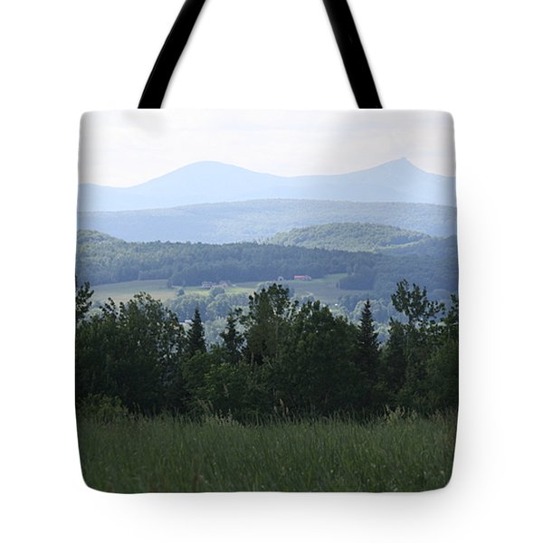 Jay Peak From Irasburg Tote Bag by Donna Walsh