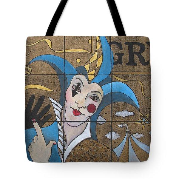 Jester In Blue Tote Bag by Susanne Clark