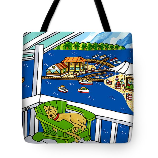 July 4th Snoozer - Cedar Key Tote Bag