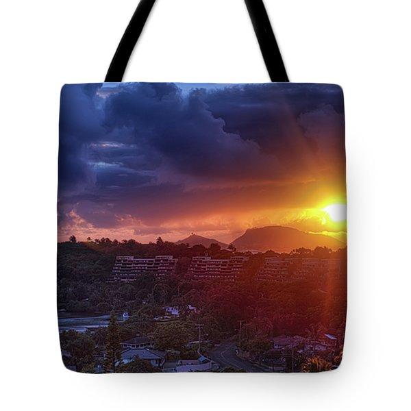 Kaneohe Sunrise Tote Bag by Dan McManus