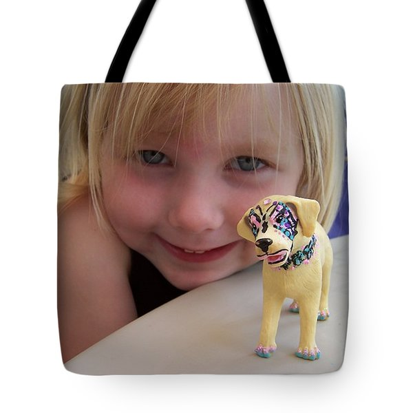 Lacey's Face Painted Dog Tote Bag