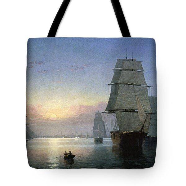 Lane: Boston Harbor Tote Bag by Granger