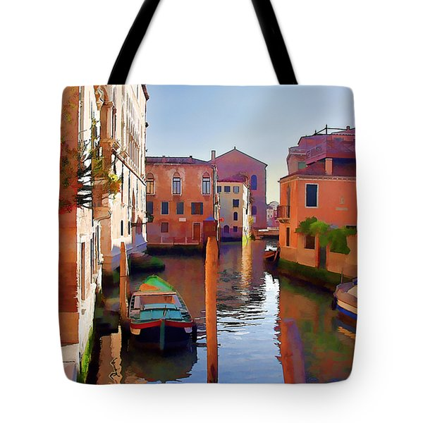 Late Afternoon In Venice Tote Bag by Elaine Plesser