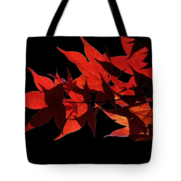 Leaves Of Red Tote Bag by Heather Applegate
