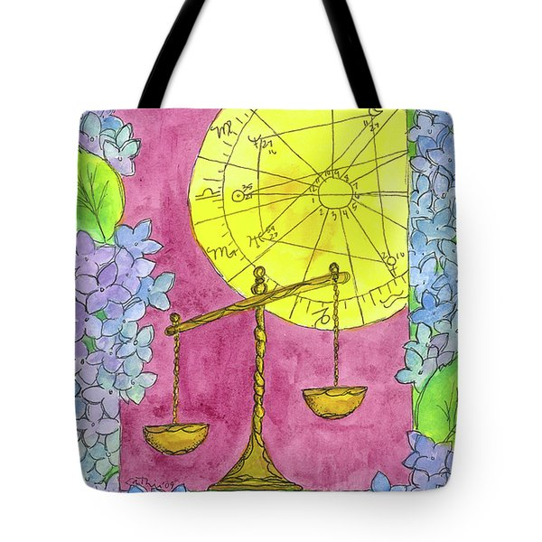 Tote Bag featuring the painting Libra by Cathie Richardson