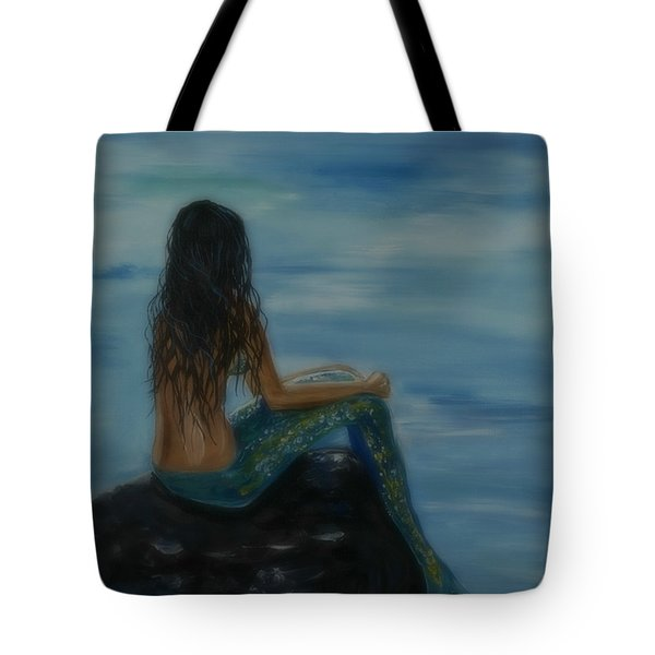 Mermaid Mist Tote Bag by Leslie Allen