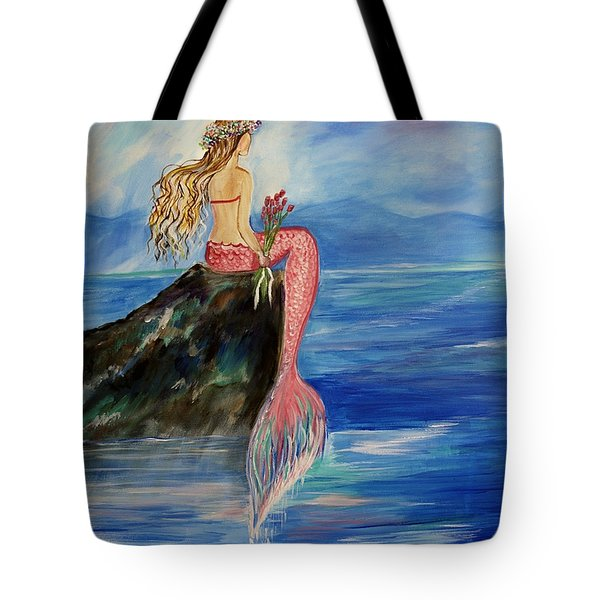 Mermaid Wishes Tote Bag by Leslie Allen
