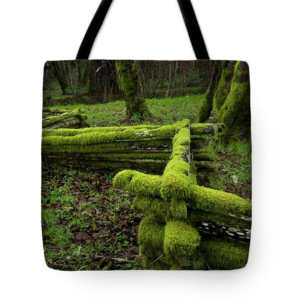 Mossy Fence 4 Tote Bag by Bob Christopher