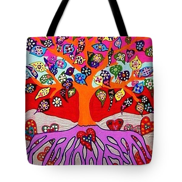 My Heart Flowers For You Tote Bag by Sandra Silberzweig