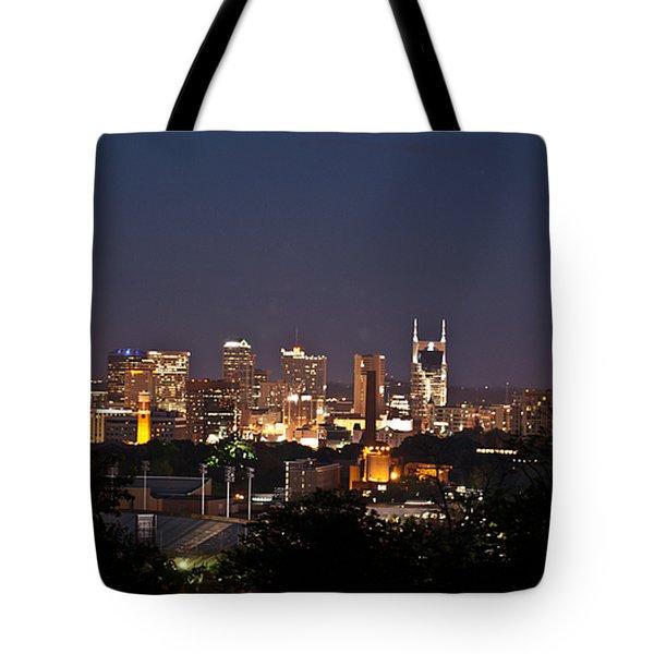 Nashville Cityscape 1 Tote Bag by Douglas Barnett