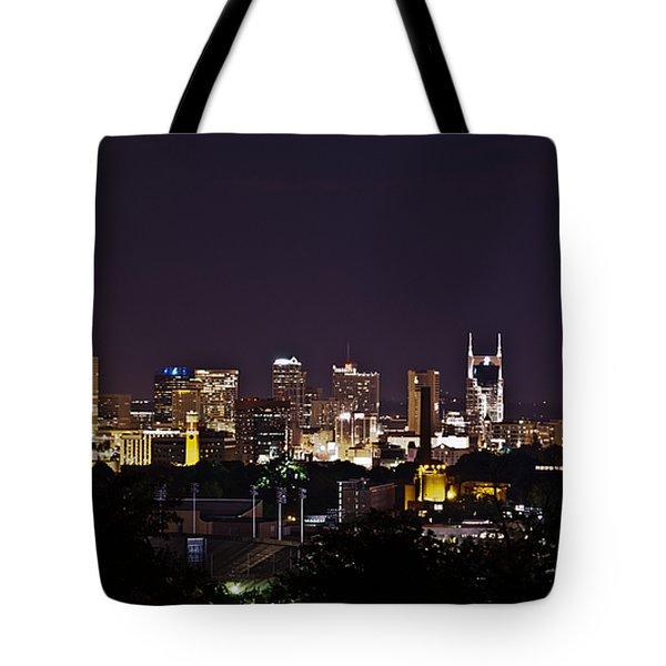 Nashville Cityscape 4 Tote Bag by Douglas Barnett