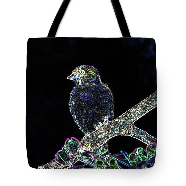 Neon Goldfinch Tote Bag by Betty LaRue
