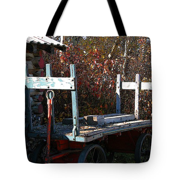 Tote Bag featuring the digital art Old Wagon by Stuart Turnbull