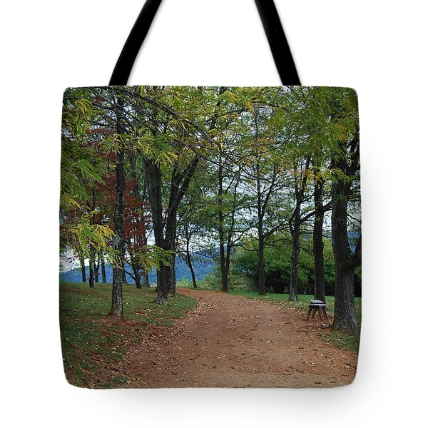 Tote Bag featuring the photograph Pathway by Eric Liller