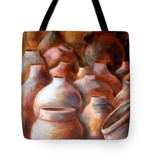 Pots In Morocco Tote Bag