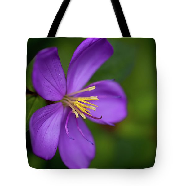 Purple Flower Macro Tote Bag