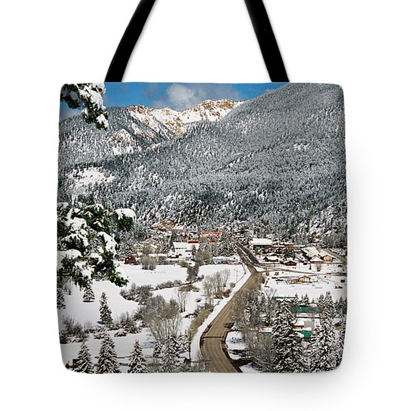 Red River In Winter Tote Bag