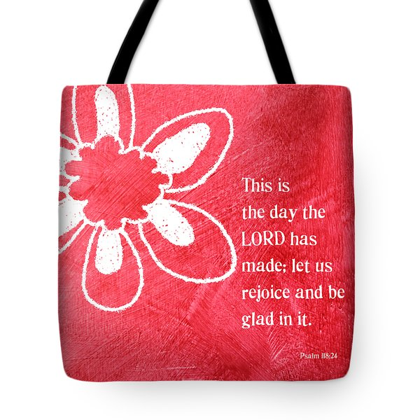 Rejoice Tote Bag by Linda Woods