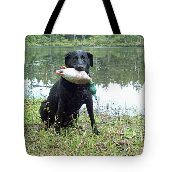 Retrieve Training At Island Lake Tote Bag by Pamela Patch